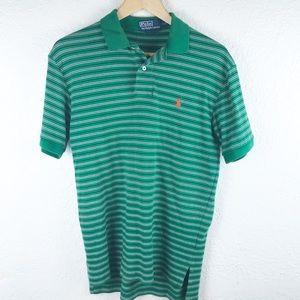 Polo by Ralph Lauren green polo shirt small.  M016